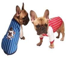 New Fashion Dog Coat Pet Jacket Striped Cotton Costume Autumn Winter Sports Apparel Clothes For Small/Medium Bulldog Pet Dogs(China)