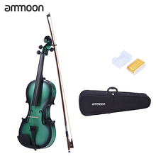 ammoon 1/4 Size Violin Fiddle Maple Scroll Fingerboard Pegs Aluminum Alloy Tailpiece with High Quality Rosin Bow Violin Case(China)