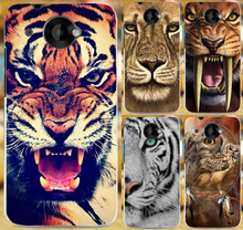 2015 Hot Selling Animal Pattern Lion Tiger Owl Printed Hard Back Cover Skin Shell Phone Case For HTC Desire 601 Coque Capa