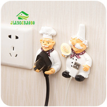 Cook Design New Storage Shelf Holder Power Plug Holders Rack Socket Wall Mounted Adhesive Hanger Kitchen Accessories