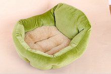 2015 New Winter Warm Pet Cat Bed PP Cotton Padded Soft Fleece Dog Nest Bed House Indoor For Small Cats