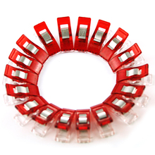 50pcs/Lot Home DIY  Red Wonder Clips for Fabric Quilting Craft Sewing Knitting Crochet Kit Tools Accessories WA141 P20