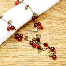 2017 New Fashion Women Choker Necklace - Beautiful Red cherries Necklace Pendant Jewelry Necklace Accesories For women JXB299(China)