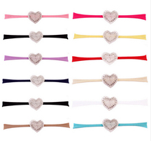 1 PCS New LOVE Headband Rhinestone Heart Headbands Kids Girls Headwear Hair Bands Accessories Photo props turban