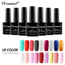 Vrenmol 18 Colors French One Step Nail Gel Polish Lomg Lasting UV LED Lamp Enamel Vernis Nial Design 3 In 1 Lacquer