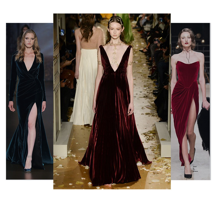 17 Autumn Winter Evening Party Dresses Red Velvet Dress Women Sexy High Split Long Maxi Dresses Christmas Runway Vestido Longo 10