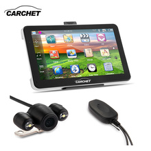 CARCHET 7 Inch Car GPS Navigation Bluetooth AV-IN 4GB 128MB RAM Wireless Rear View System Wide Angle Camera Asia Australia Map