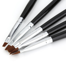 5 Sizes Professional Acrylic Nail Art Brush Set Perfect Use For UV Gel Builder Nal Brushes top quality