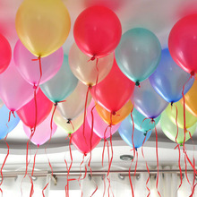 Cheap Hot 50/100pcs 10'' 1.2g MixColor Round Shape Latex Pearl Balloon Party Decorate Valentine's Day Birthday Wedding Decoratio