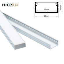 10set 1.6ft/0.5m/set U-Shape LED Strip Aluminum Channel Profile for 14mm 15mm 16mm PCB LED Bar Light Housing with Cover Fittings(China)
