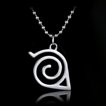 Silver Leaf Charm Necklace Hidden Leaf Village emblem Naruto necklace Simple Style Bijoux