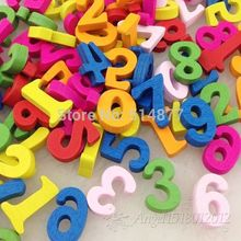 100pcs Mix 0-9 Number Wood Button No Hole Kid's Sewing Crafts Accessorie 15 mm WB08(China)