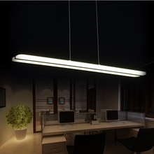 LukLoy 38W Modern LED Pendant Lights Lamp for Dining Room White Acrylic LED Pendant Lamp Contemporary L100CM H150CM