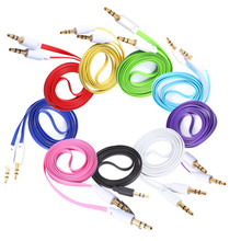 1pcs Colorful Noodle 3.5mm Male to Male 3FT 1M Car Stereo Audio Auxiliary AUX Cable Cord For MP3 for IOS Android Phone