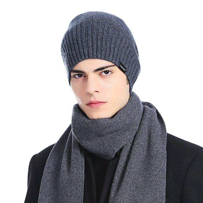 CACUSS brand Autumn Winter hats Men Hats Male Beanies Boys 100% Knitted Wool Skullies Soft Caps Hot Sale 2017Îäåæäà è àêñåññóàðû<br><br>
