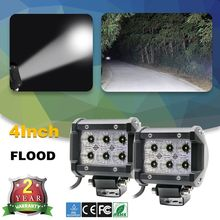 CO LIGHT 2Pcs Led Car Lights 18W Led Light Bar Flood Beam Cree Chip 4Inch Dc 12V 24V With Zero Shipping Cost For 4X4 Offroad Car(China)