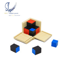 Wood Educational Toys Binomial Cube Educational Intelligence Training Blocks Preschool Training Math Kids Toys(China)