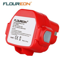 FLOUREON 12V 3000mAh Rechargeable Battery Pack Power Tools Battery Cordless Drill for Makita Mak 1050D 8413D DA Ni-MH Bateria