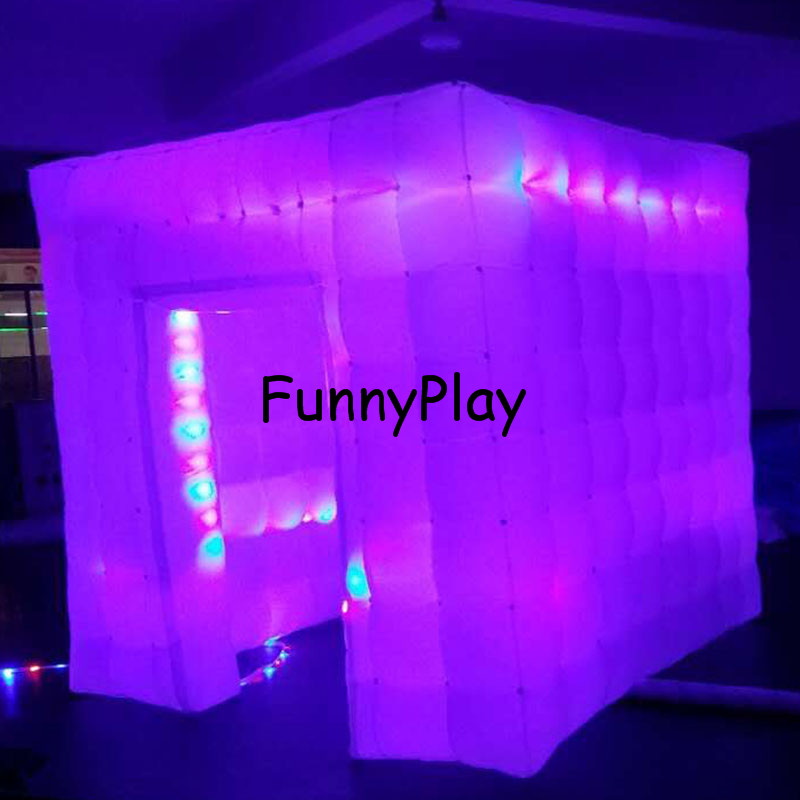 LED lighted inflatable photo booth2