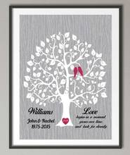 25th Wedding Anniversary poster print pictures canvas painting Family tree art Personalized Parents wedding gift wall decoration