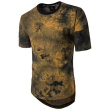 Brand Clothing Hop Hop Hip Tie Dye t shirts Men Round Collar Short Sleeve T shirt Homme Tee Jerseys Men T shirts 5XL S0281