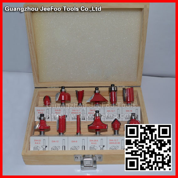 Shank Dia 6.35(1/4) &amp;12.7(1/2) Milling cutters round over woodworking router bits set<br>