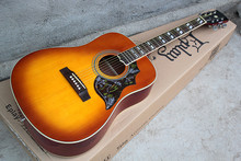 Factory Custom 41'' Hummingbird Acoustic Guitar with white binding,chrome tuners,can be customized