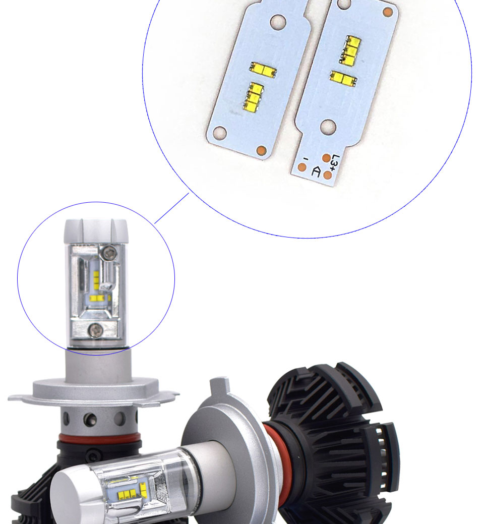 ZES COB LED Chip for X3 Car Headlight Bulbs H1 H3 H4 H7 9005 9006 880 H13 9004 9007 Auto Headlamp Light Source X3 ZES Chip (8)
