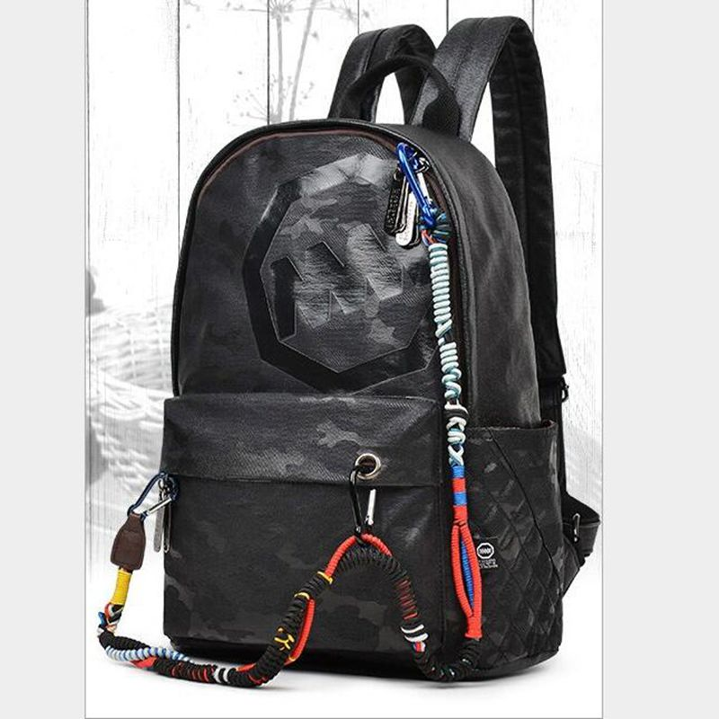 2017 NEW Men Male Canvas Backpack College Student School Backpack Bags for Teenagers Vintage Mochila Casual Rucksack Travel<br>