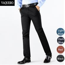 High Quality Men's Twill Pants Basic Styles Stretch Classic Black Skinny Slim Fit Chinos Casual Pants 4 Colors Size 28-38