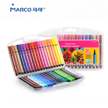 Marco Children's Art Set Washable Watercolors 12/24/36 Colored Triangle Markers Water Drawing Pen Graffiti Paint Aquarel Marker(China)