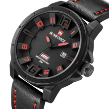 NAVIFORCE Luxury Brand Military Watches Men Quartz Analog 3D Face Leather Clock Man Sports Watches Army Watch Relogios Masculino