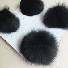 DIY Craft Supplies / Real fox fur ball Diameter 12cm / hand diy cell bag car keys Hair Accessories Many Uses / Wholesale(China)