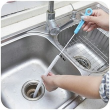 Pipe Cleaning Brushes Home Snake Hair Removal Tool Drain Sink Brush Cleaner Bathroom Unclog Sink Tub Color Random