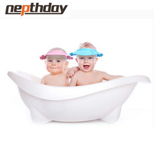 Adjustable Kids Shampoo Bath Bathing Shower Cap Baby Hat Toddler Wash Hair Shield Direct Visor Caps for Baby Care