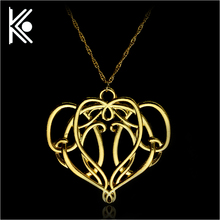The Lord of the Rin gs Necklace the Elves Elrond King necklace vintage gold crown pendant for men and women