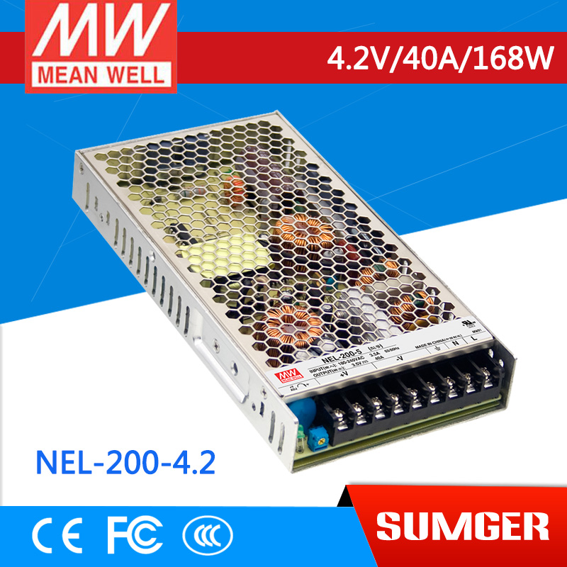 [MEAN WELL1] original NEL-200-4.2 4.2V 40A meanwell NEL-200 4.2V 168W Single Output Switching Power Supply<br>
