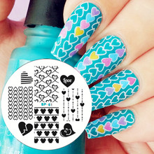 Love Heart Nail Art Stamping Template Image Plate BORN PRETTY Nail Stamp Plates Decoration Tools BP61(China)