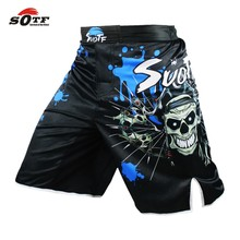 Red Skull Pirate fitness boxing workout MMA breathable pants Tiger Muay Thai boxing shorts kickboxing  MMA pants cheap boxeo