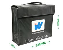 Safety Bag Big Size 240*180*65MMBattery Protection Bag Explosion - proof Fire(China)