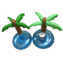 10pcs Summer Floating Coconut Palm Tree Inflatable Holder Swimming Pool Bathing toy Beach Party Kids Bath Toy Drink/Beer/Cup