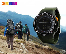 Skmei Shockproof LED Watches Multifunctional 50M Dive Swim Digital Watch Men's Clock Wristwatches Outdoor Travel Kits