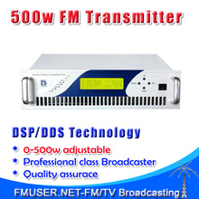 500W Digital DSP FM stereo radio transmitter exciter power adjustable from 0~500w