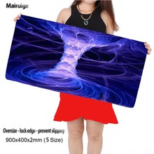 Free Shipping  Large Gaming Blue Mouse Pad 900*300mm  Extended Anti-slip Natural Rubber Mousepad Desk Mat Mouse Mat Keyboard Mat