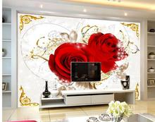 wallpaper 3d ceiling 3d customized wallpaper Red roses ceiling frescoes backdrop 3d ceiling murals wallpaper