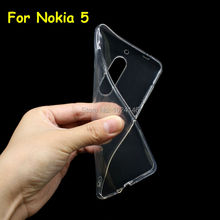 "New Slim Crystal Clear Transparent Soft TPU Camera Protect Back Case Cover Protection Skin For Android Phone Nokia 5 2017 5.2""(China)"