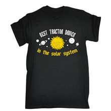 BEST TRACTOR DRIVER IN THE SOLAR SYSTEM T-shirt Farm Farmer Birthday Gift 123t Top Tee for Sale Natural Cotton T Shirts(China)