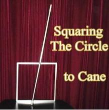 Squaring The Circle to Cane - Magic trick, Stage Magic,Classic,Fun,party magic,Close up,illusions,props