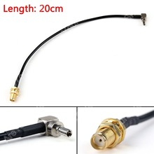 Areyourshop Sale 20cm RG174 Cable CRC9 Male Plug Right Angle To SMA Female Jack Coax Pigtail Jackpl(China)