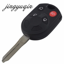 jingyuqin 10pcs/lot Replace Key Shell Uncut fit for FORD MERCURY LINCOLN Remote Key Fob Case 4 BTN(China)